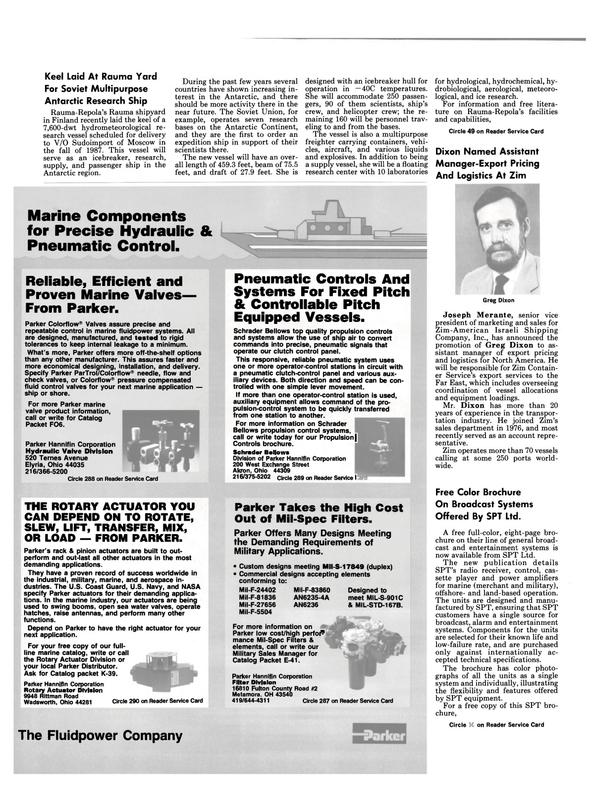 Maritime Reporter Magazine, page 6,  Nov 1986
