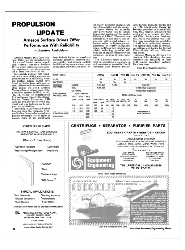 Maritime Reporter Magazine, page 82,  Nov 1986