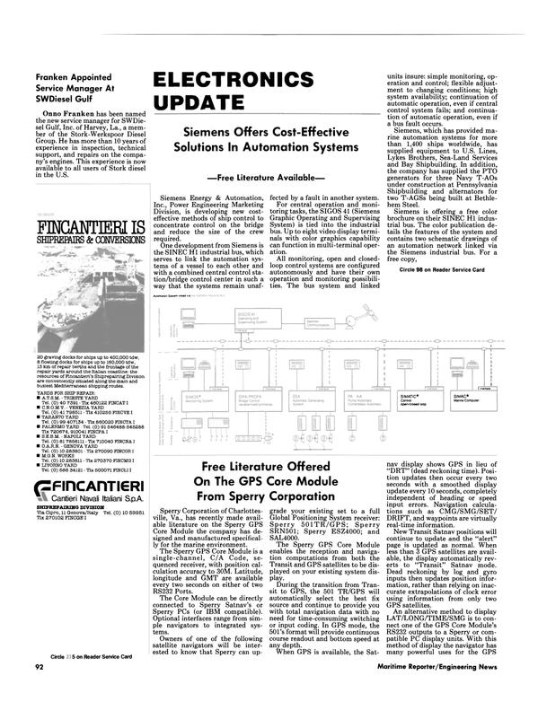 Maritime Reporter Magazine, page 88,  Nov 1986