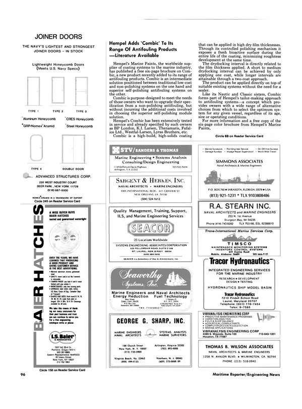 Maritime Reporter Magazine, page 92,  Nov 1986