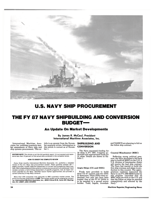 Maritime Reporter Magazine, page 32,  Dec 1986 United States