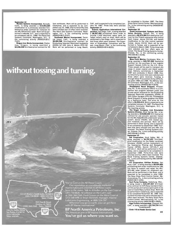 Maritime Reporter Magazine, page 39,  Dec 1986 West Coast