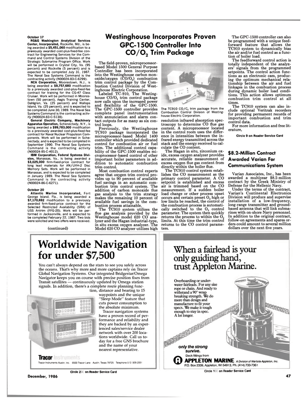Maritime Reporter Magazine, page 45,  Dec 1986 Maryland
