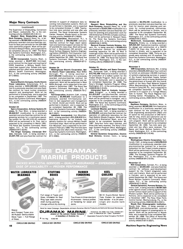 Maritime Reporter Magazine, page 46,  Dec 1986 Florida