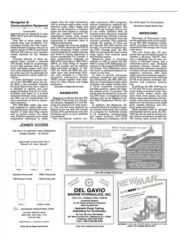 Maritime Reporter Magazine, page 54,  Dec 1986 coaxial cable