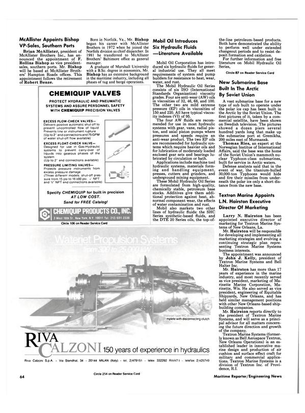 Maritime Reporter Magazine, page 62,  Dec 1986 Rhode Island