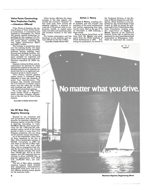 Maritime Reporter Magazine, page 6,  Dec 1986