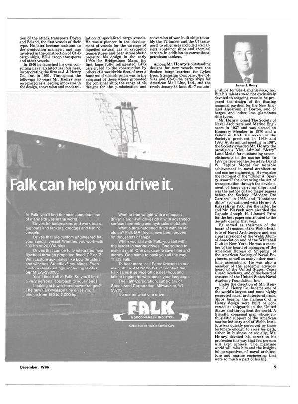 Maritime Reporter Magazine, page 7,  Dec 1986
