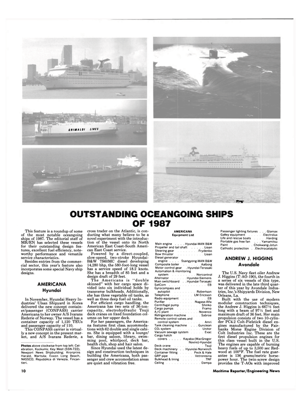 Maritime Reporter Magazine, page 8,  Dec 1987 T-A0