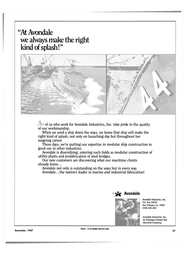 Maritime Reporter Magazine, page 29,  Dec 1987