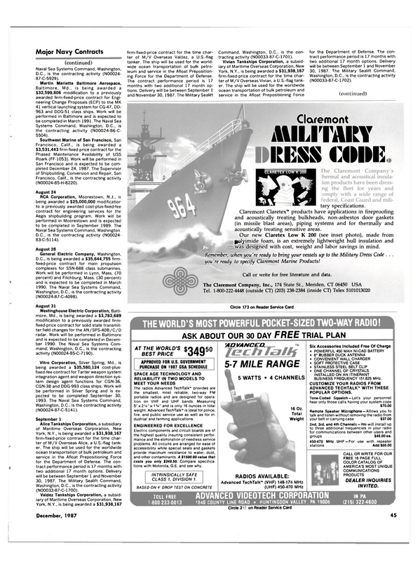 Maritime Reporter Magazine, page 33,  Dec 1987 the Aegis