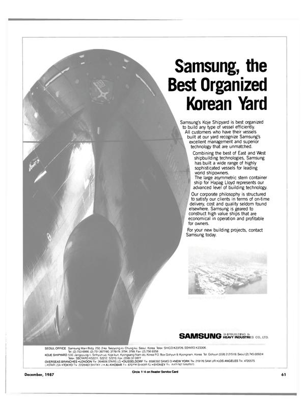 Maritime Reporter Magazine, page 49,  Dec 1987