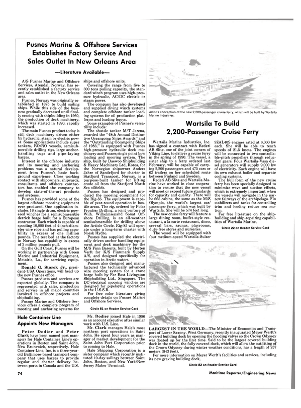 Maritime Reporter Magazine, page 60,  Dec 1987 New Brunswick