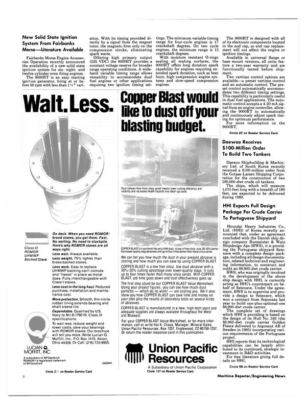 Maritime Reporter Magazine, page 6,  Dec 1987