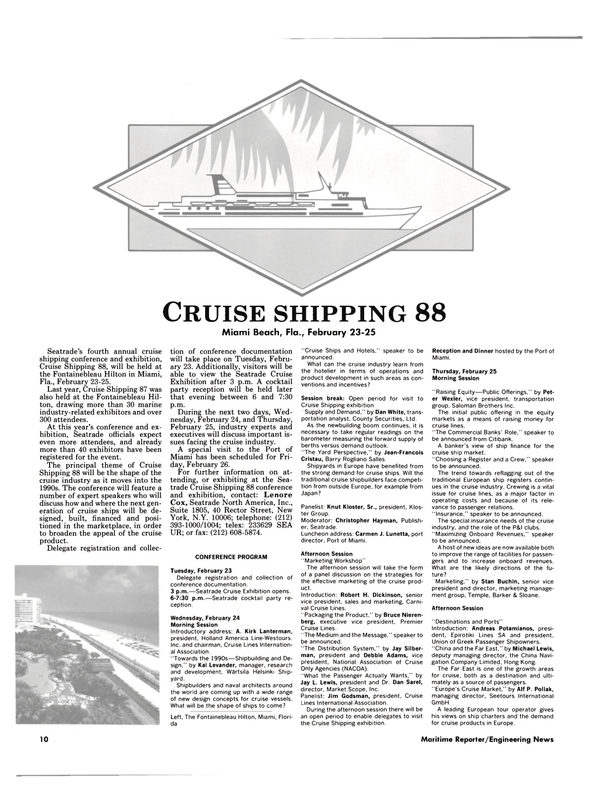 Maritime Reporter Magazine, page 8,  Jan 1988 Kai Levander