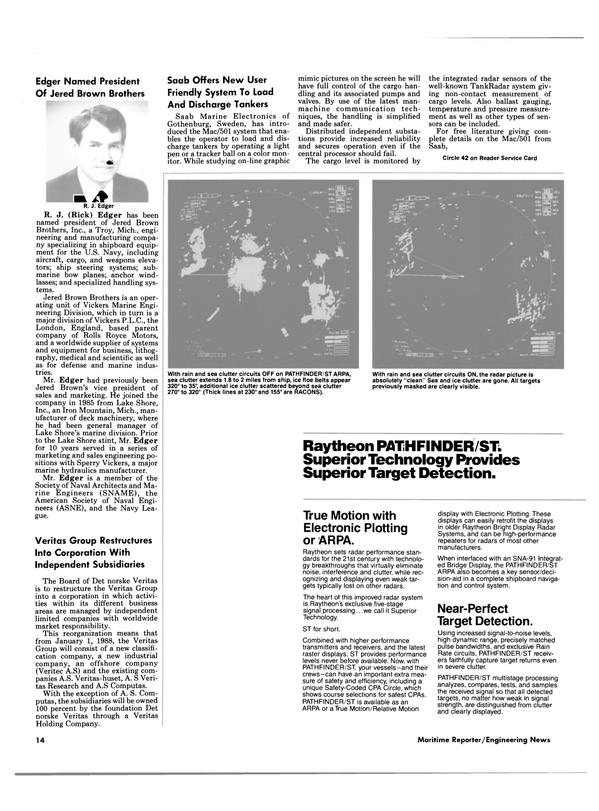Maritime Reporter Magazine, page 12,  Jan 1988 Pathfinder