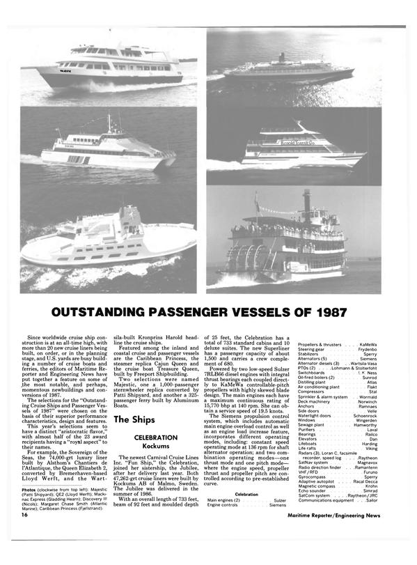 Maritime Reporter Magazine, page 16,  Jan 1988