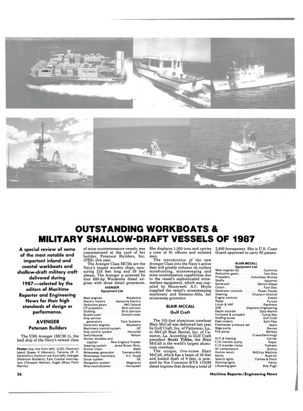 Maritime Reporter Magazine, page 26,  Jan 1988