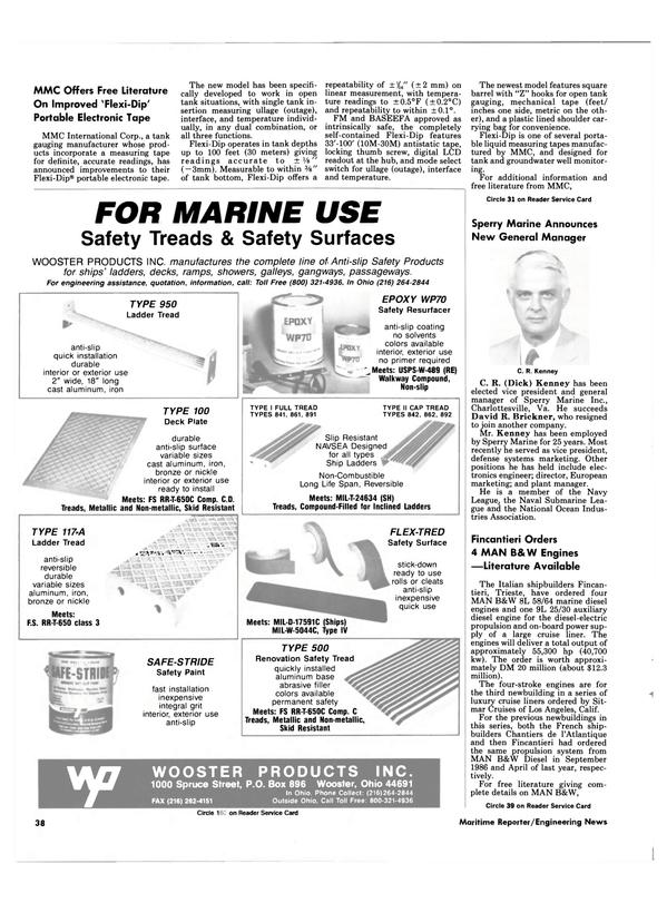 Maritime Reporter Magazine, page 38,  Jan 1988 Ohio