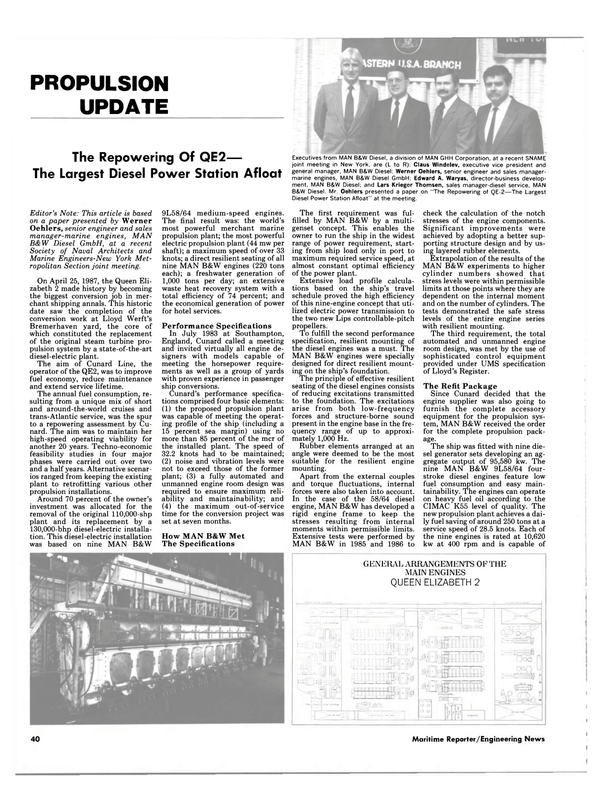Maritime Reporter Magazine, page 40,  Jan 1988 Claus Windelev