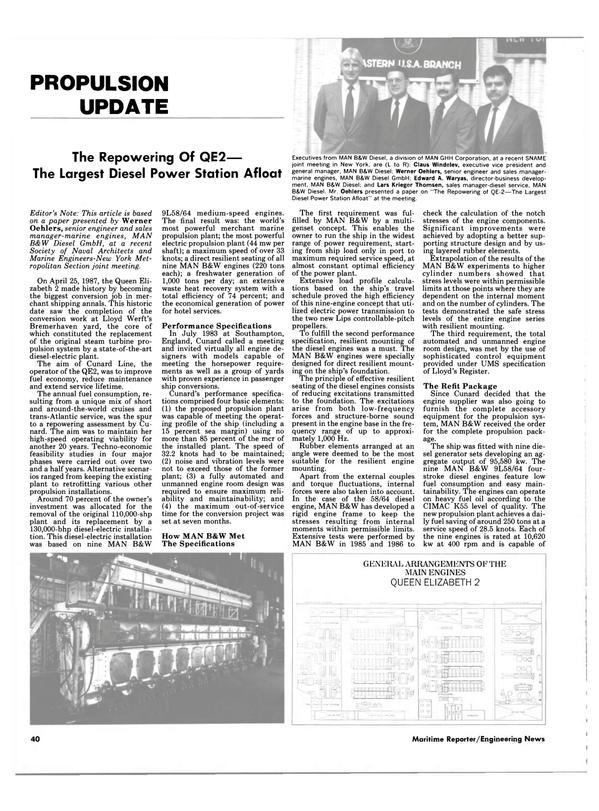 Maritime Reporter Magazine, page 40,  Jan 1988