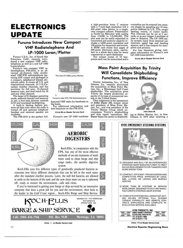 Maritime Reporter Magazine, page 50,  Jan 1988 Ohio