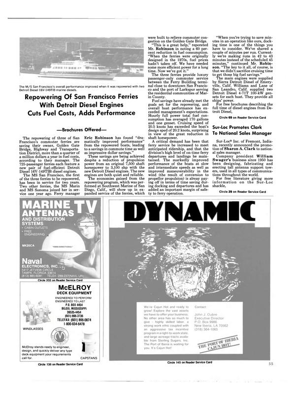 Maritime Reporter Magazine, page 53,  Jan 1988 Harman On Time Radio
