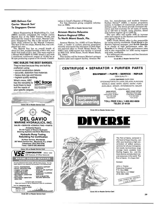 Maritime Reporter Magazine, page 59,  Jan 1988 Virginia