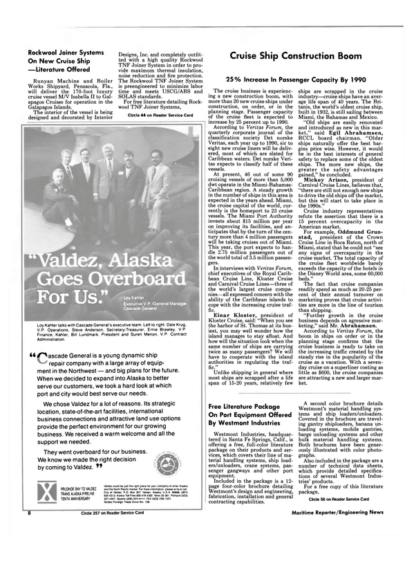 Maritime Reporter Magazine, page 6,  Jan 1988