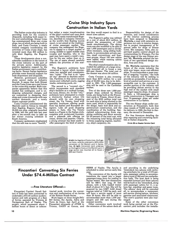 Maritime Reporter Magazine, page 8,  Feb 1988 Italian Government