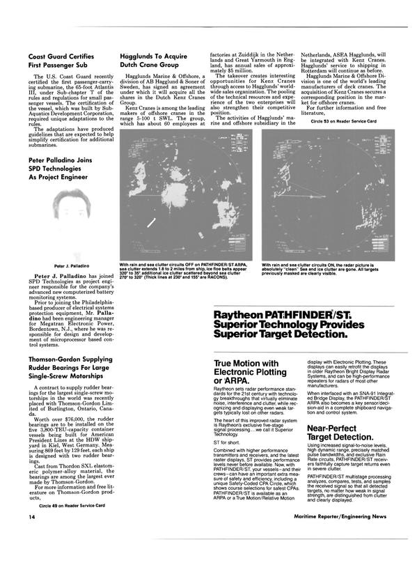 Maritime Reporter Magazine, page 12,  Feb 1988