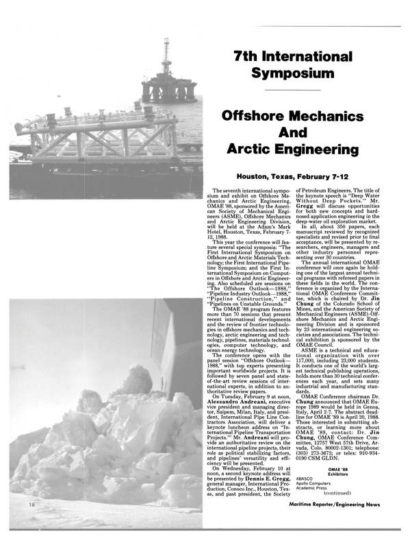 Maritime Reporter Magazine, page 14,  Feb 1988 Adam