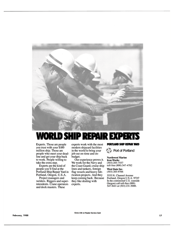 Maritime Reporter Magazine, page 15,  Feb 1988