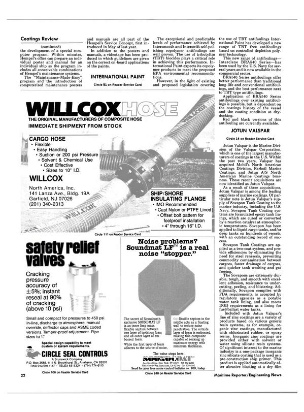 Maritime Reporter Magazine, page 20,  Feb 1988 California