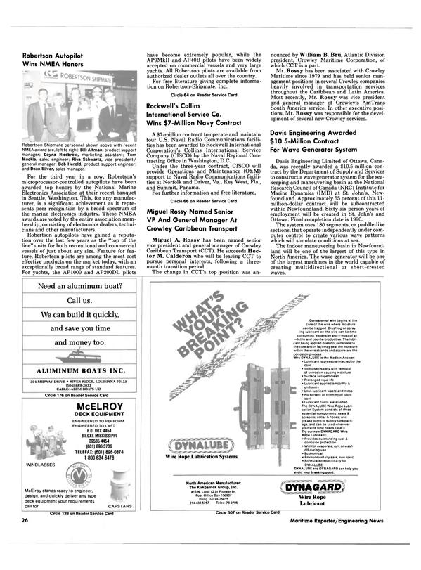 Maritime Reporter Magazine, page 24,  Feb 1988 Latin America