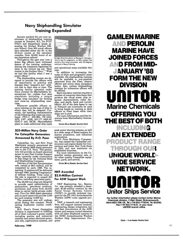 Maritime Reporter Magazine, page 39,  Feb 1988