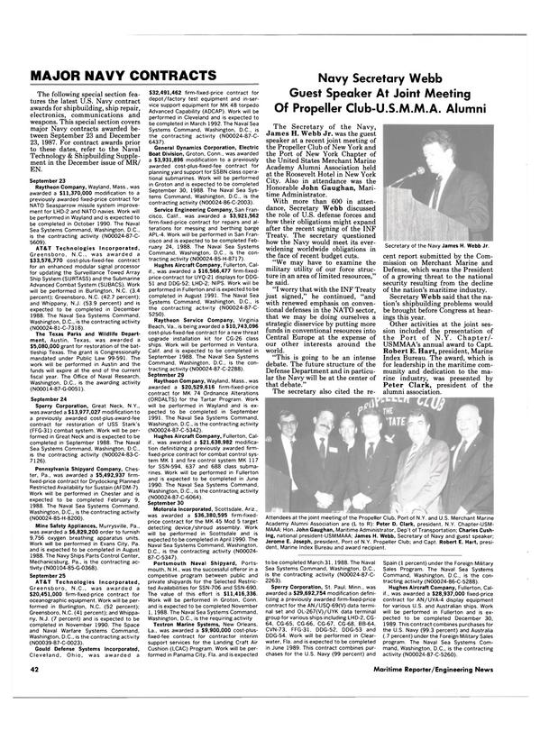 Maritime Reporter Magazine, page 40,  Feb 1988