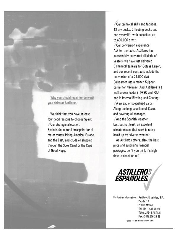 Maritime Reporter Magazine, page 47,  Feb 1988