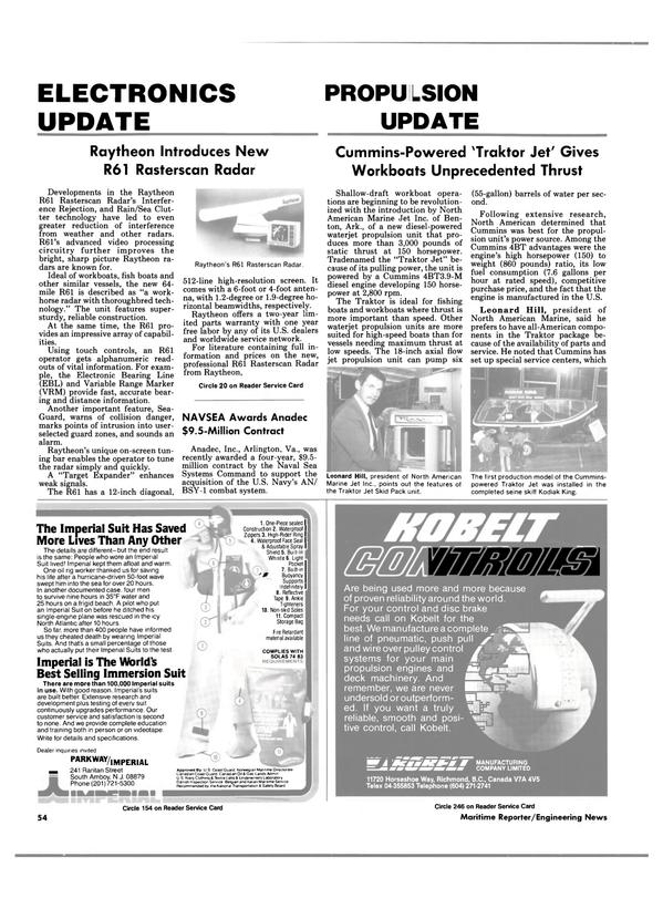 Maritime Reporter Magazine, page 52,  Feb 1988 British Columbia