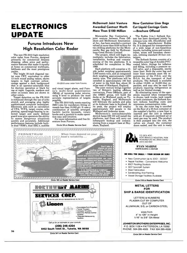 Maritime Reporter Magazine, page 54,  Feb 1988 Ryan Marine