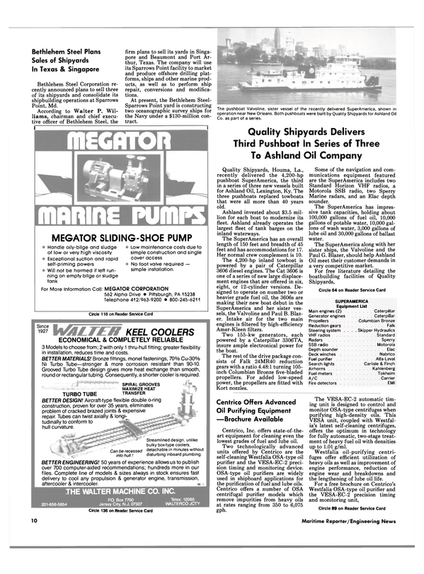 Maritime Reporter Magazine, page 8,  Mar 1988