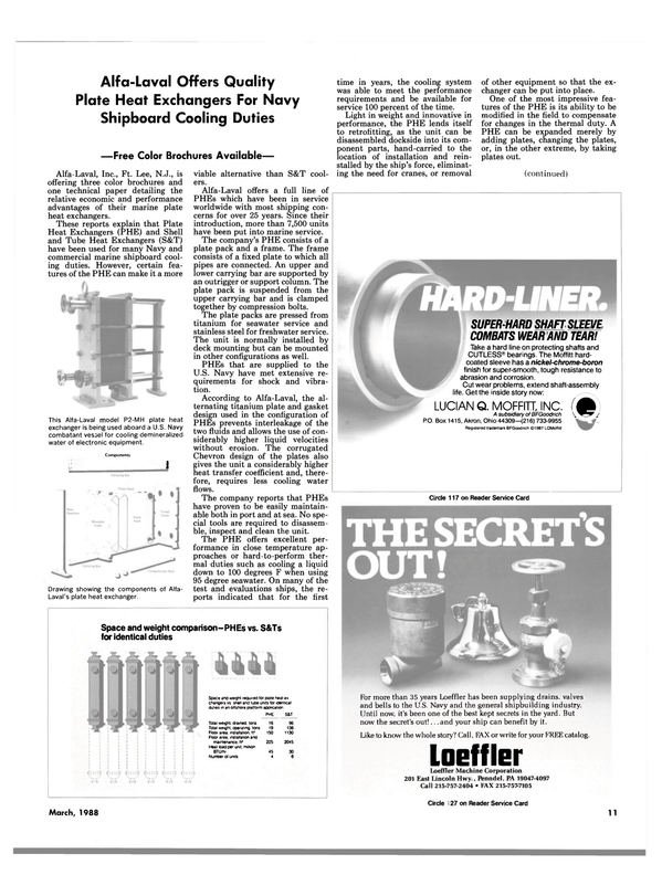 Maritime Reporter Magazine, page 9,  Mar 1988 New Jersey