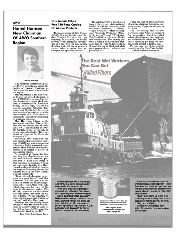 Maritime Reporter Magazine, page 11,  Mar 1988 Florida