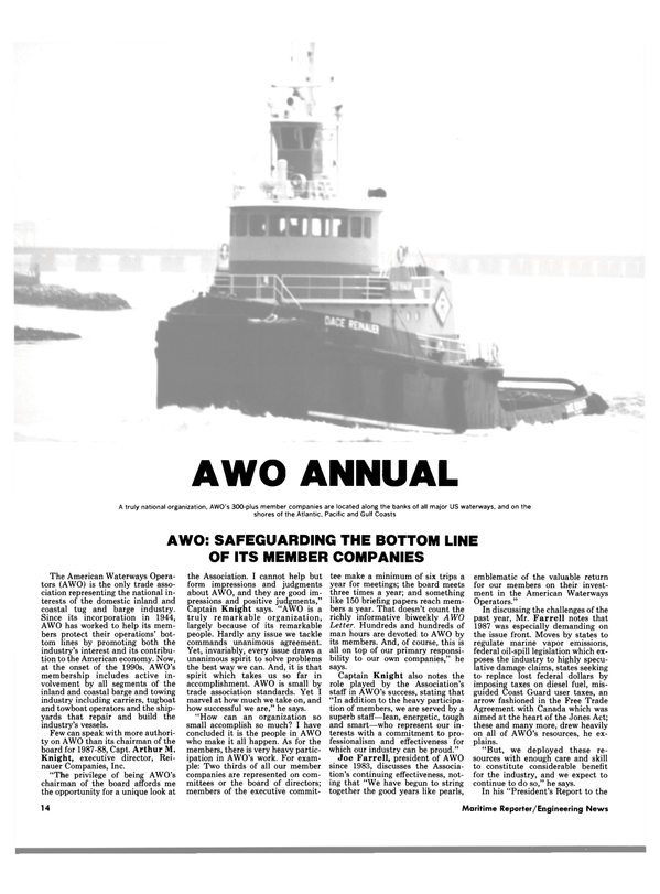 Maritime Reporter Magazine, page 12,  Mar 1988 United States