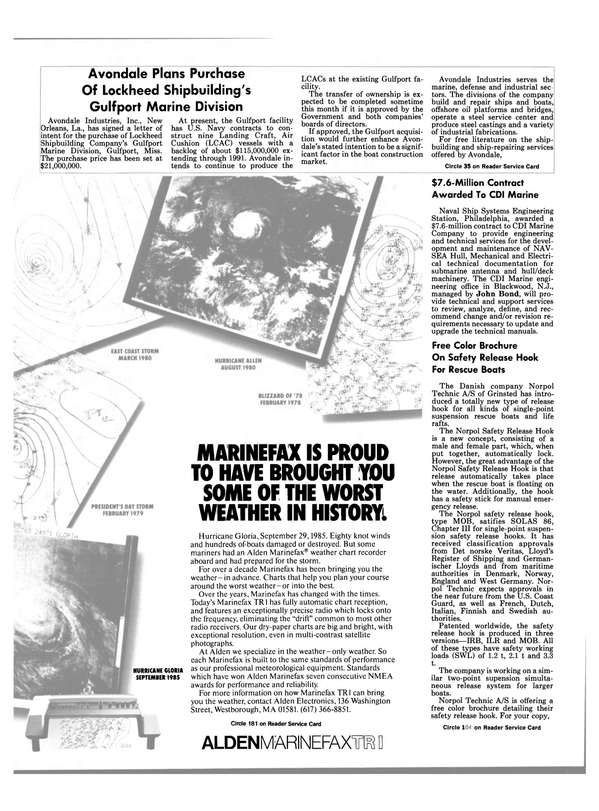 Maritime Reporter Magazine, page 40,  Mar 1988 New Jersey