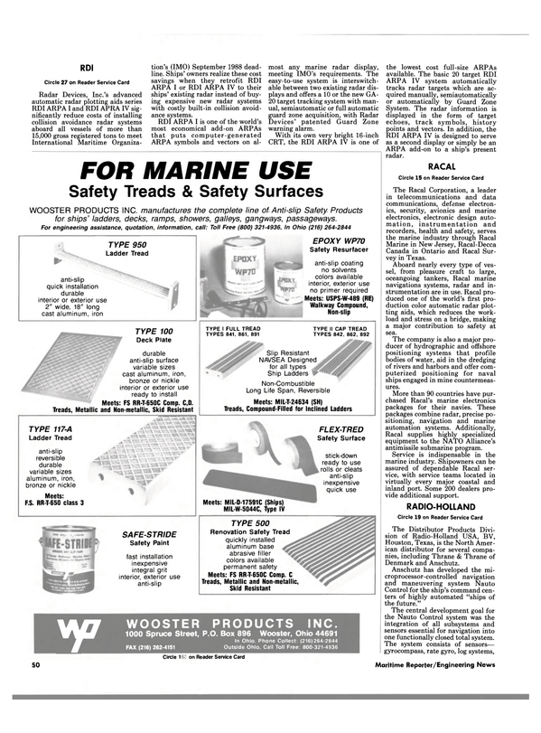 Maritime Reporter Magazine, page 48,  Mar 1988 New Jersey