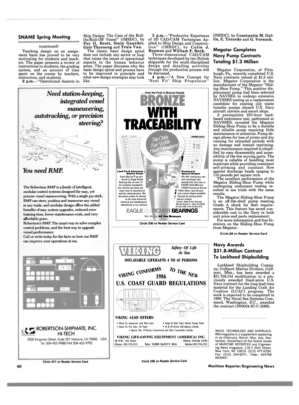 Maritime Reporter Magazine, page 38,  May 1988 Mississippi