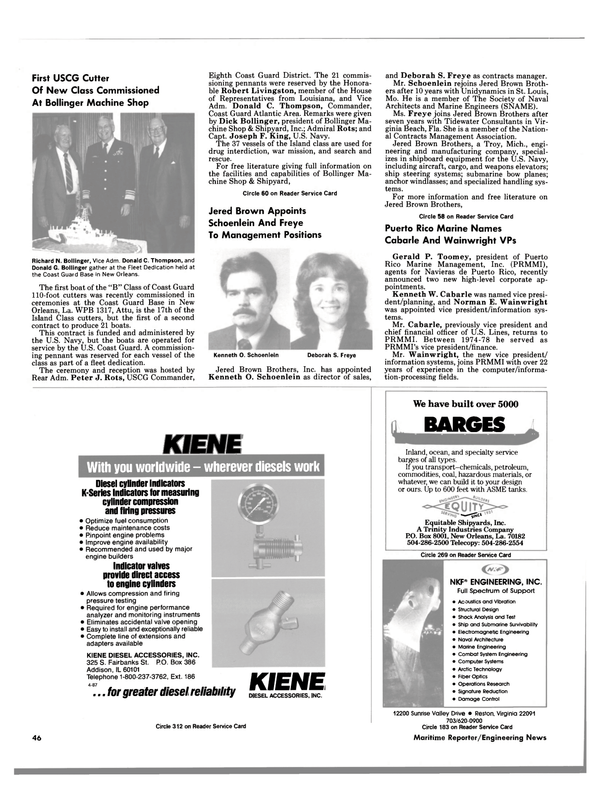 Maritime Reporter Magazine, page 44,  May 1988