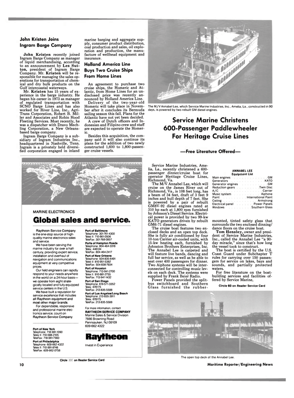 Maritime Reporter Magazine, page 8,  Jun 1988