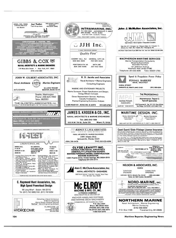 Maritime Reporter Magazine, page 98,  Jun 1988